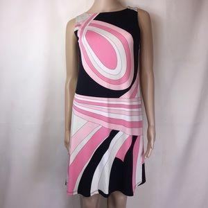 Julie Brown Pink Black & White Tank Dress
